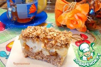 Рецепт: Овсяные пирожные с яблоком и йогуртом