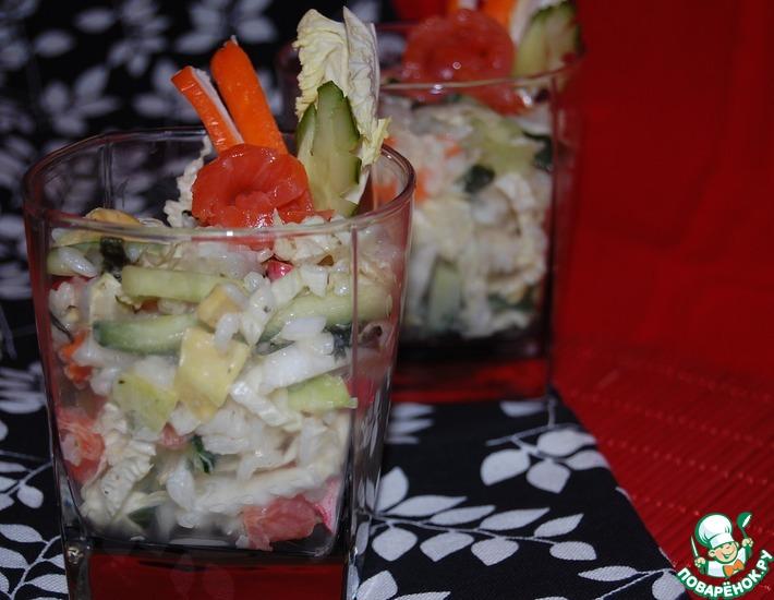 Рецепт: Калифорнийский суши-салат