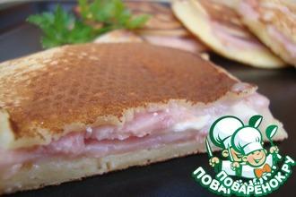 Рецепт: Бутерброд а-ля Крок Макдо