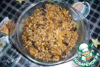 Рецепт: Плов из перловой крупы с грибами
