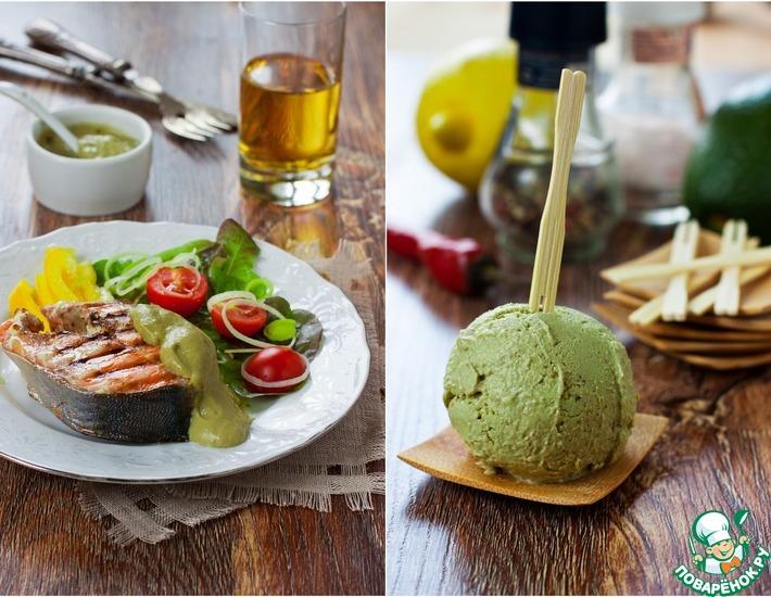 Острое мороженое из авокадо