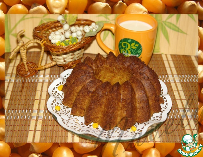 Рецепт: Кекс из кукурузного толокна