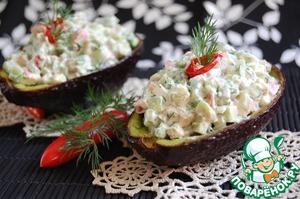 Рецепт Салат из авокадо с крабовыми палочками