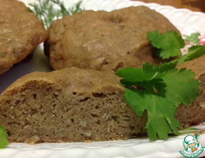 Рецепт: Хлебные лепешки из гречневой муки