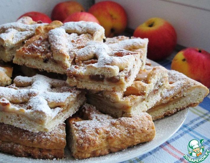 Рецепт: Яблочно-творожный пирог