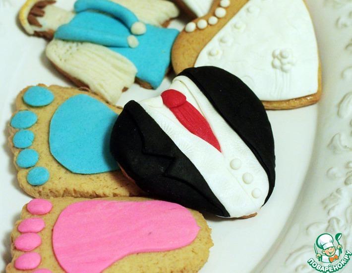 Рецепт: Миндальное печенье с мастикой