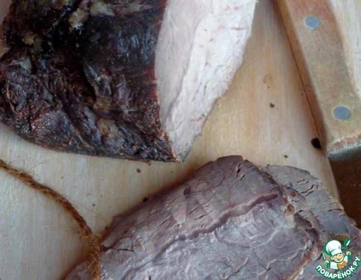Рецепт: Копчёная говядина с пряностями
