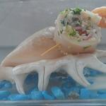 Канапе из кальмаров с крабовыми палочками