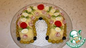 Рецепт Новогодний салат-Подкова