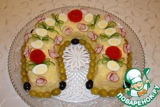 Рецепт: Новогодний салат-Подкова