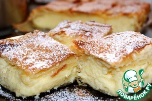 Bougatsa-traditional Greek cream pie