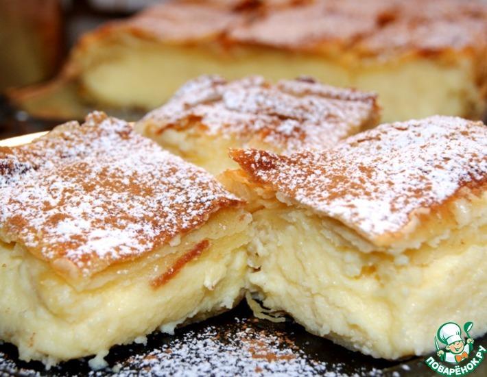 Рецепт: Традиционный греческий пирог с кремом Бугаца