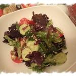Зелёный салат с бастурмой
