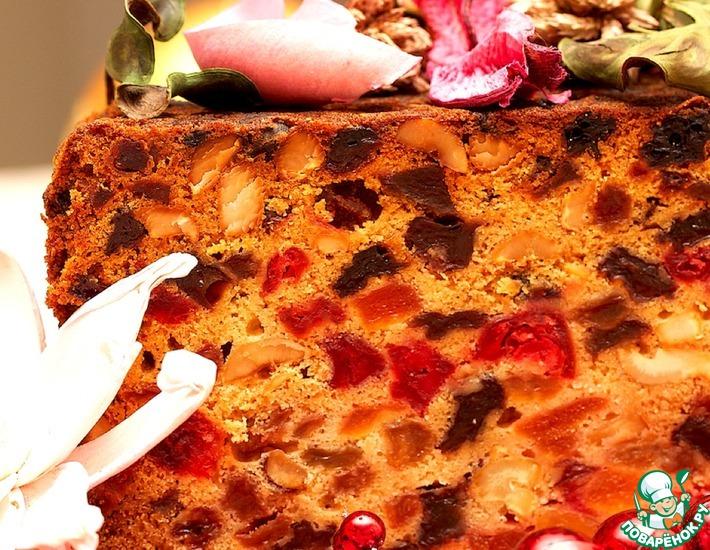 Рецепт: Фруктовый кекс к Рождеству