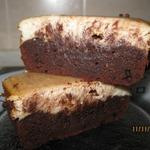 Шоколадно-банановое пирожное