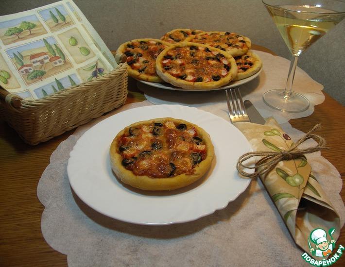 Рецепт: Мини-пицца Маленькая Италия