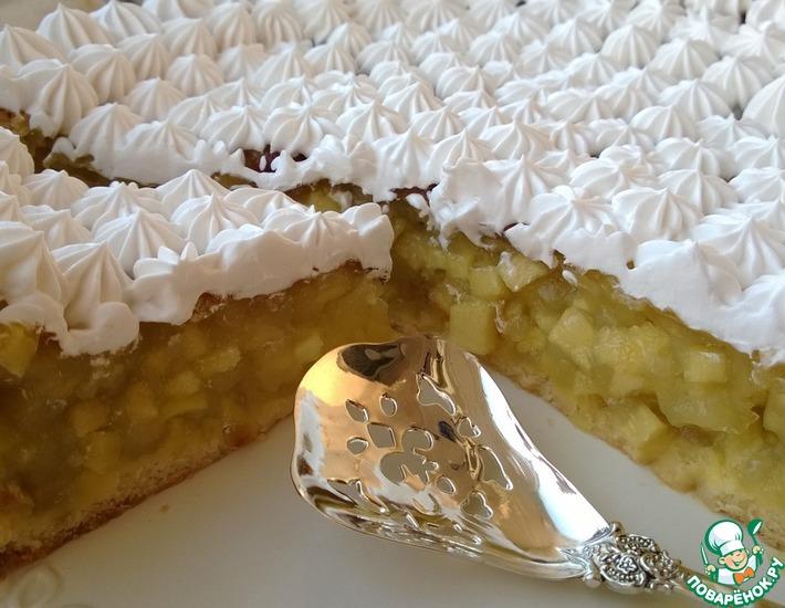 Рецепт: Яблочно-винный торт