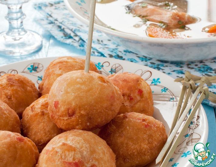 Рецепт: Крабовые пончики