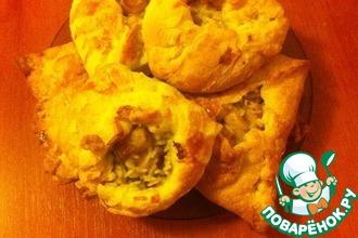 Рецепт: Пироги с пангасиусом из слоеного теста