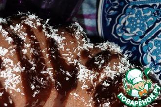 Рецепт: Шоколадный десерт из манной крупы
