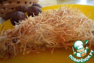 Рецепт: Кадаиф с грецким орехом