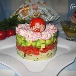 Салат с крабовыми палочками и кус-кусом
