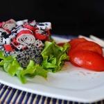 Крабовый салат в японском стиле
