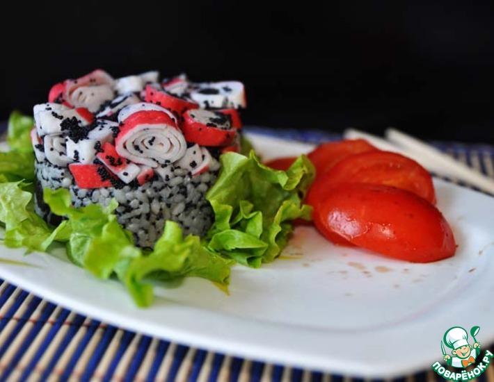 Рецепт: Крабовый салат в японском стиле