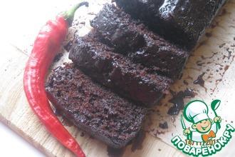 Рецепт: Шоколадный кекс с пикантной шоколадной пропиткой