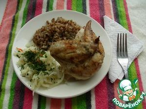Цыплёнок запеченный (вариант табака) – кулинарный рецепт