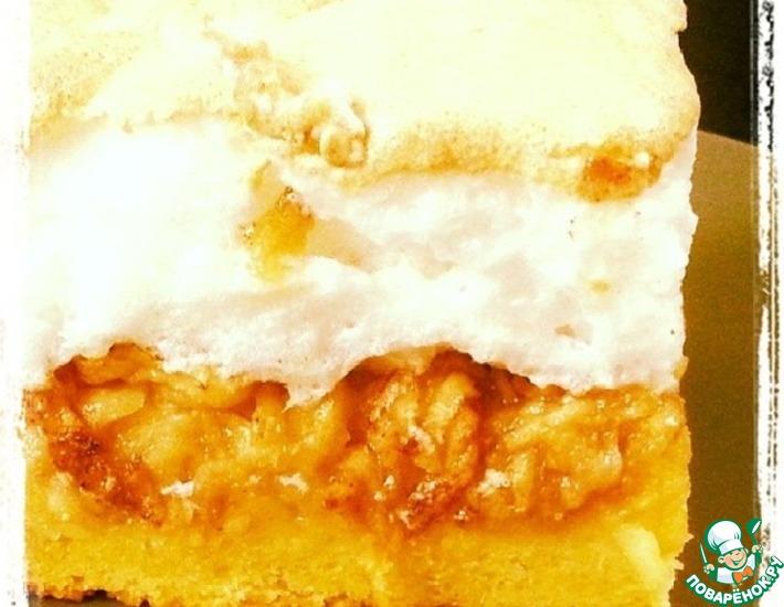 Рецепт: Яблочный пирог с белым кремом