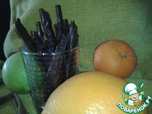 Десертные цитрусовые палочки – кулинарный рецепт