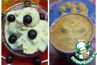 Рецепт: Имбирно-грейпфрутовое мороженое + кофе-гляссе