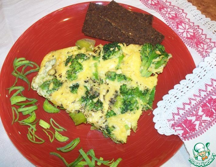Рецепт: Фриттата с брокколи и луком-пореем