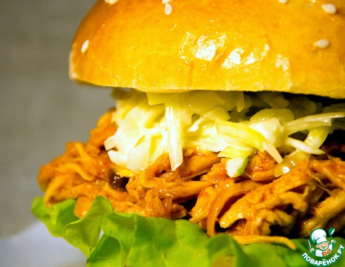 Рецепт: Волокнянка куриная для бургеров, сэндвичей, бурритос