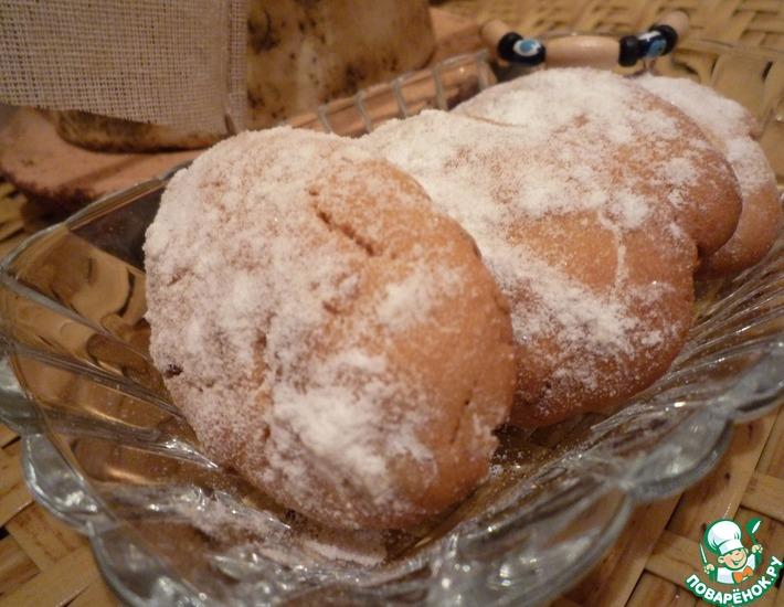 Рецепт: Печенье Курабье с грецким орехом
