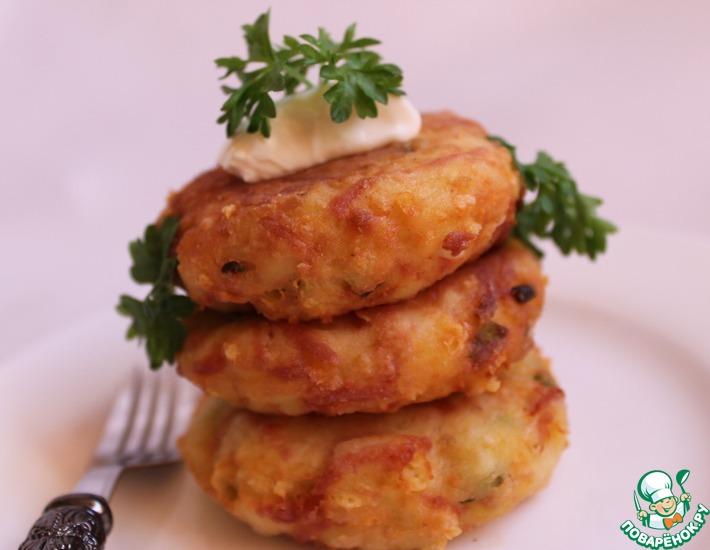 Рецепт: Биточки картофельно-колбасные