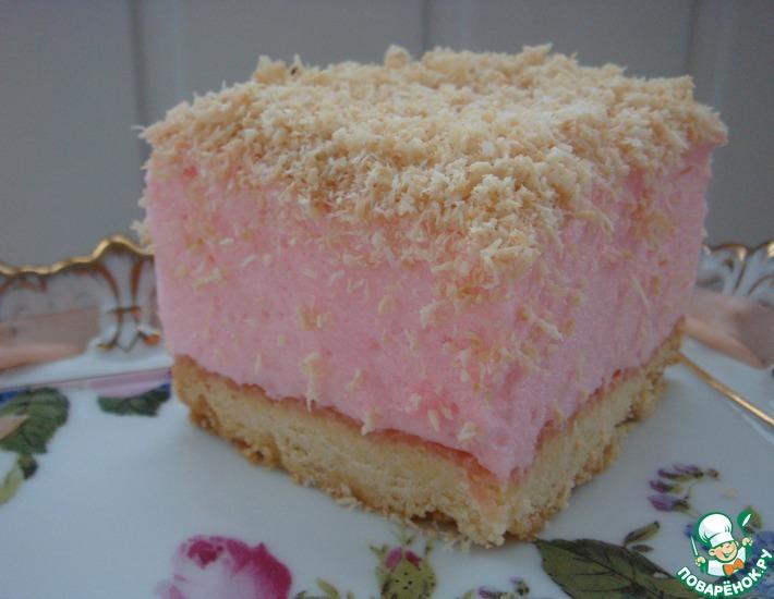 Рецепт: Пирожные Розовые сны