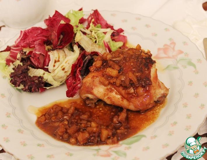 Рецепт: Куриное бедро в имбирном соусе