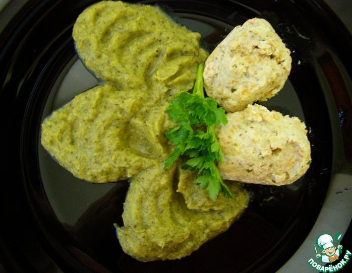 Рецепт: Паровые тефтели с овощным пюре