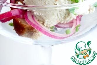 Рецепт: Мороженое из сельди с крабовой крошкой