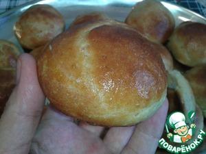 Рецепт Чесночные булочки из... пшенной каши