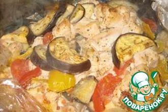 Рецепт: Куриное филе с овощами в рукаве для запекания