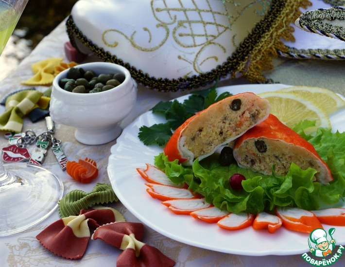 Рецепт: Рыбные колбаски