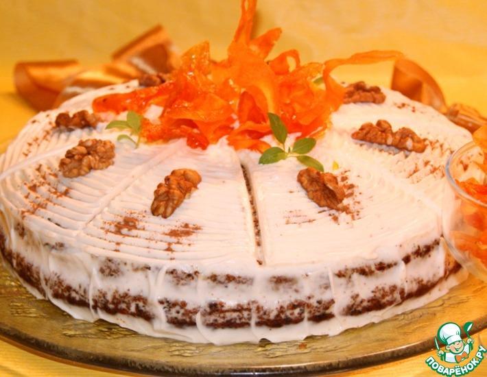 Рецепт: Ароматный морковный торт