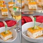 Закусочный крабовый чиз с морковно-творожными коржами