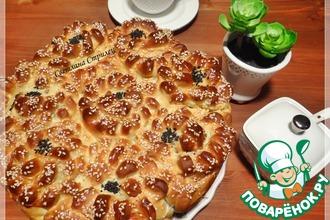 Рецепт: Сладкий пирог Цветы