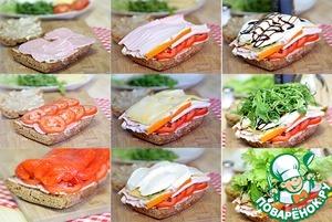 Прессованные сэндвичи в итальянском стиле – кулинарный рецепт