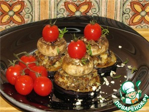 Рецепт Баклажаны с шампиньонами