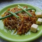 Тёплый овощной салат с фунчозой